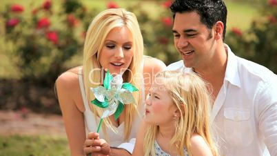 Portrait of Attractive Young Multi-Ethnic Family