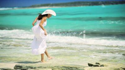 Pretty Female Enjoying her Island Lifestyle