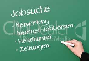Jobsuche - Konzept Tafel Beruf und Erfolg