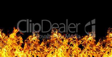 seamless fire  on a black background