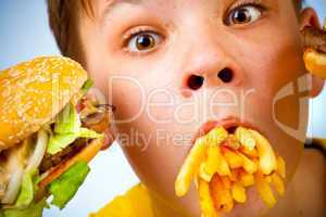 child and fast food