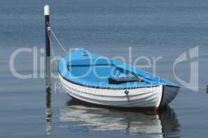Ruderboot auf der Schlei bei Maasholm, Schleswig-Holstein