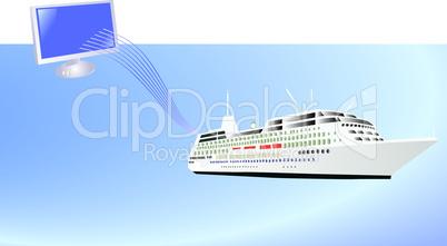 Ship and computer