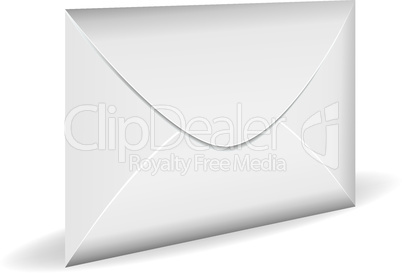 Closed white mail envelope