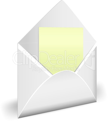 Opened envelope with letter