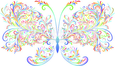 Abstract floral butterfly