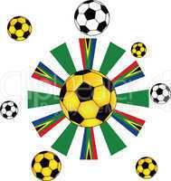 Soccer balls, flag, element for design