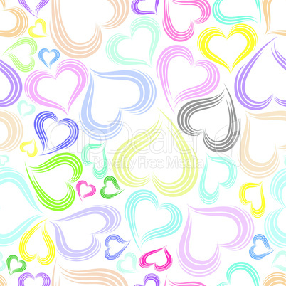 Excellent colorful seamless valentine background.