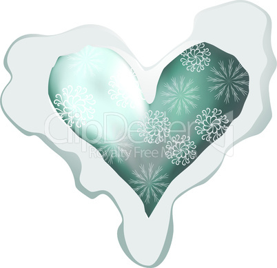 I like winter! Snowing heart shape for your design