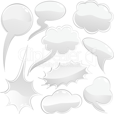Set of speech and thought bubbles, element for design