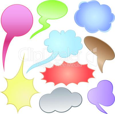 Dialog clouds. Vector illustration. Elements for design.
