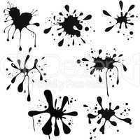 Vector illustration of black ink blot