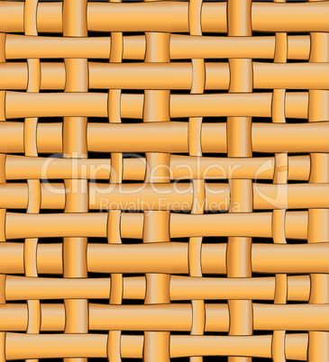 Seamless wicker basket pattern background.