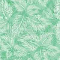 Seamless pattern with green leaf