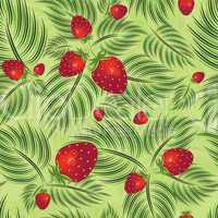 Semless pattern with strawberry