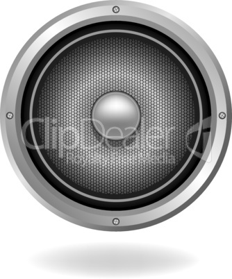 Audio speaker icon, vector illustration.