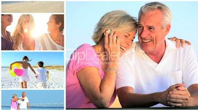 Montage of Peoples Lifestyle Leisure