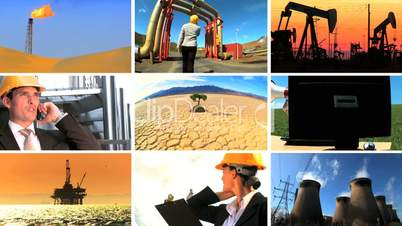 Montage of Clean Energy Production & Modern Technology