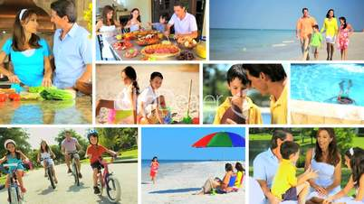 Montage of Healthy Family Lifestyle Activities