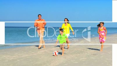 Montage of Happy Family Lifestyle Activities