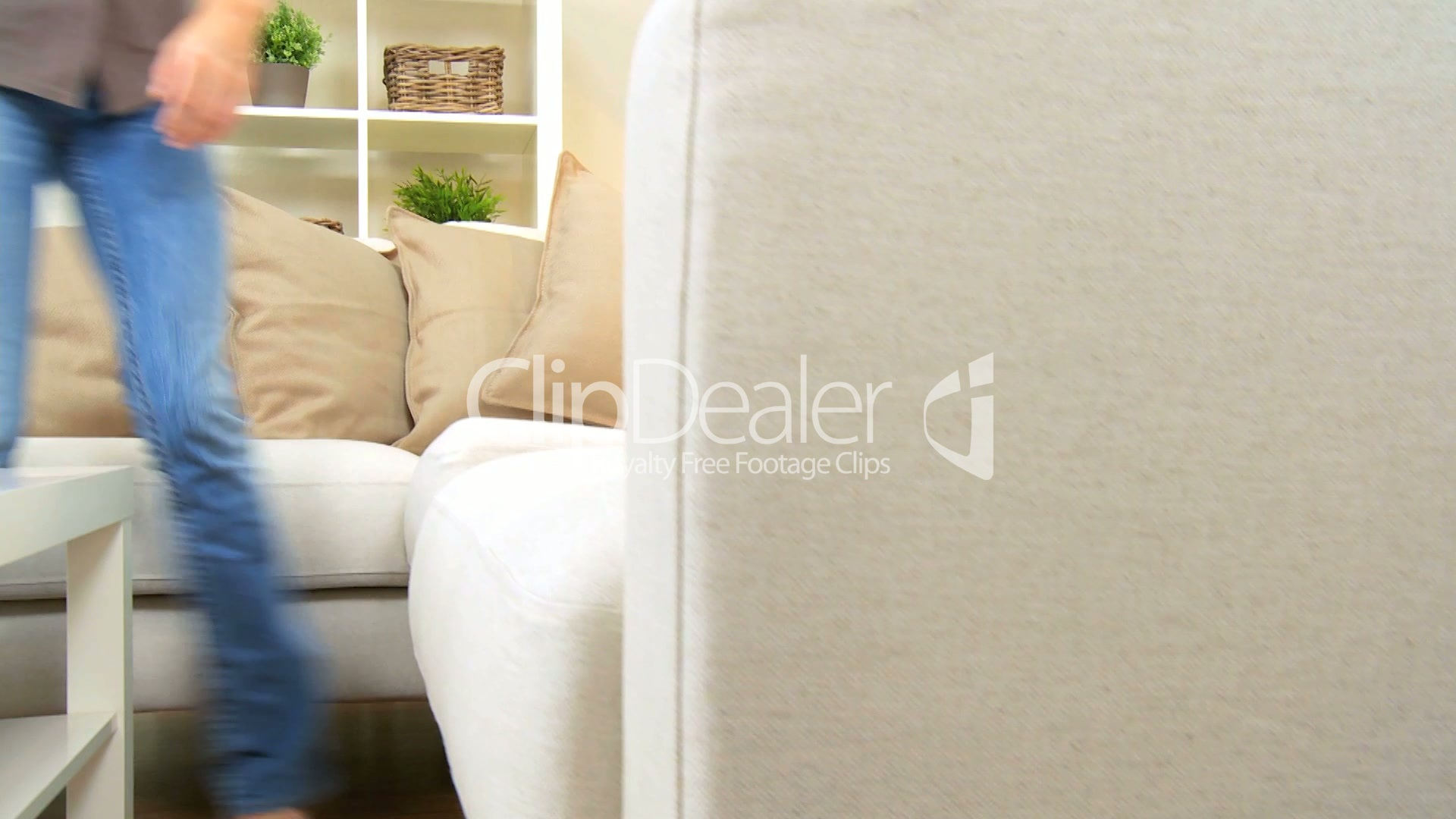 young female relaxing on home sofa royalty free video and stock