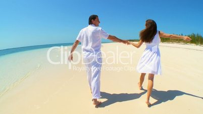 Happy Caucasian Couple on Dream Vacation