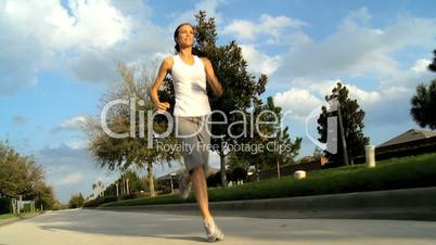 Healthy Female Jogging Exercise