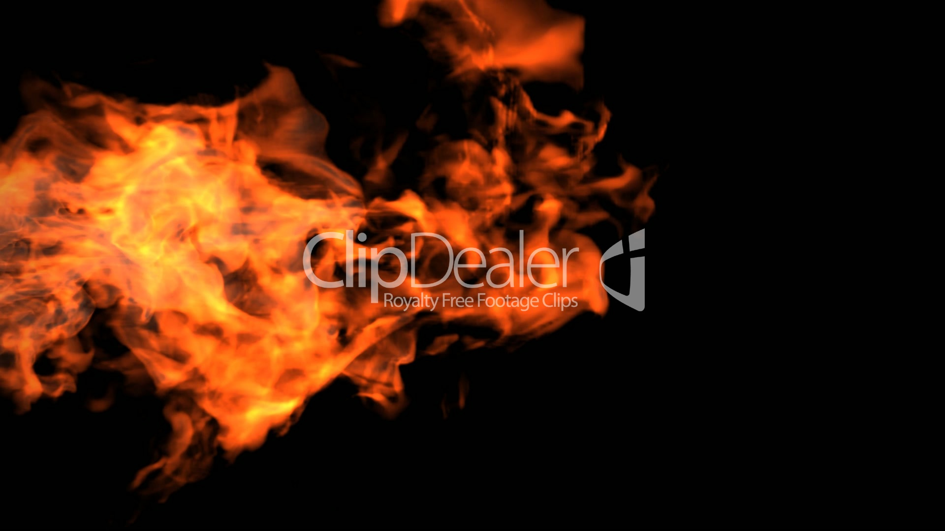 Red Fire High Definition 3d Render Royalty Free Video