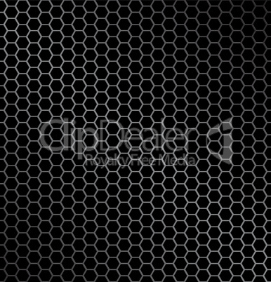 Vector illustration of hexagon metal background with light reflection