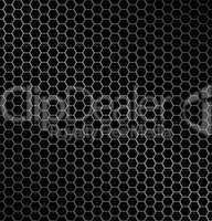 Vector illustration of hexagon metal background