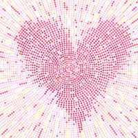 Valentine mosaic background