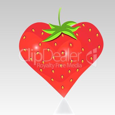 Strawberry with shape like heart.
