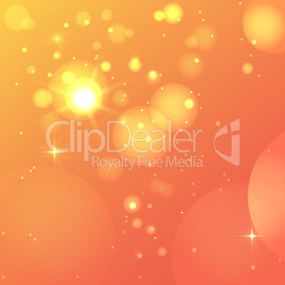 Abstract glowing orange background.
