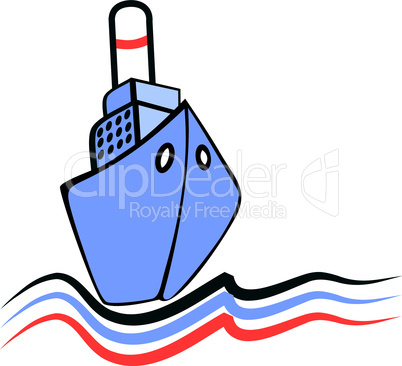 Sailing ship emblem, illustration