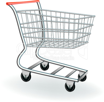 Shopping cart icon 3d.