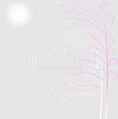 Background with decorative trees