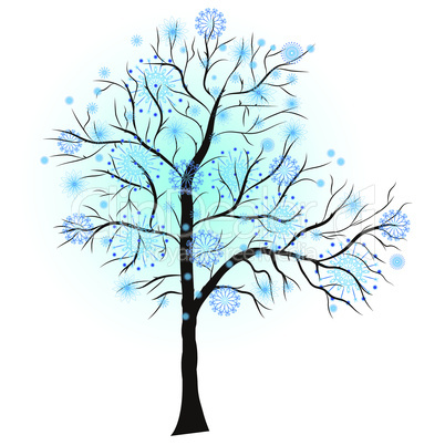 Decorative winter tree