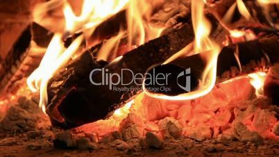 Burned firewoods