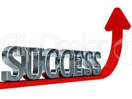Success red rising curve