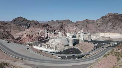 Hoover Dam wide view mountains HD 9327