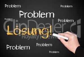 Problem / Lösung - Business Konzept Erfolg