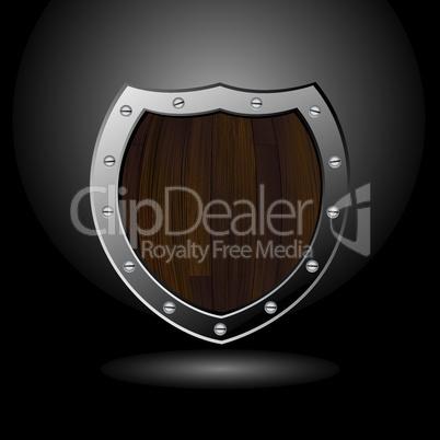 Wood shield blank