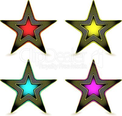 metal hexagon star award