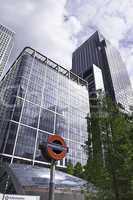 Büro Hochhäuser Business U Bahn Haltestelle