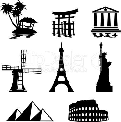 icons landmarks