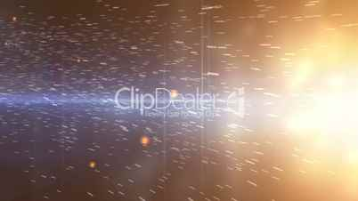 Abstract background of space with particles video