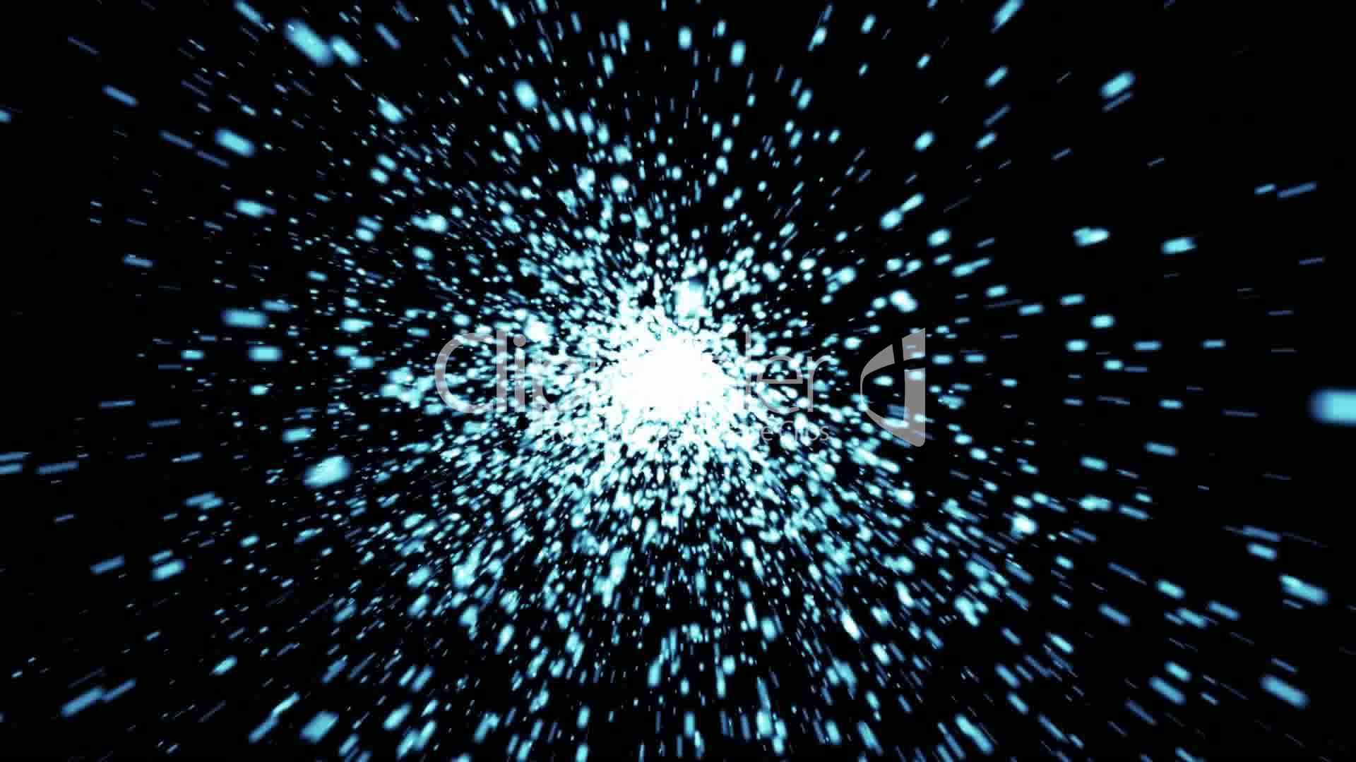 Power In Motion >> Abstract background of space with particles video: Royalty