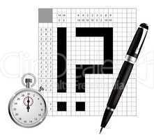 japan crossword vector