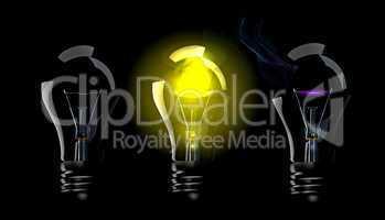 Phase blown bulbs