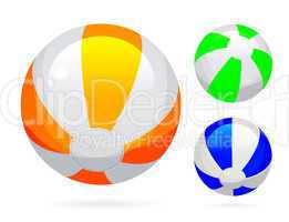 Beach ball with glossy reflections